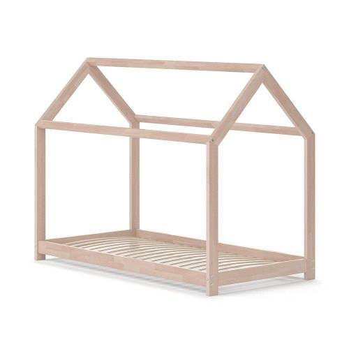 VitaliSpa® Kinderbett »Hausbett WIKI 80x160 Natur Kinderhaus Kinder Bett Holz«