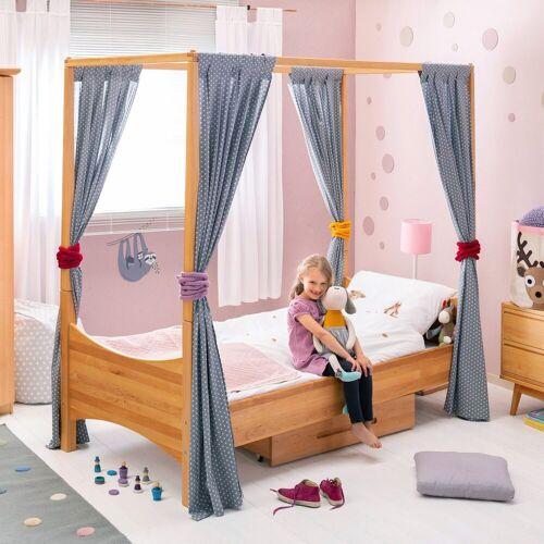 BioKinder - Das gesunde Kinderzimmer Kinderbett »Noah«, Himmelbett mit Lattenrost Erle