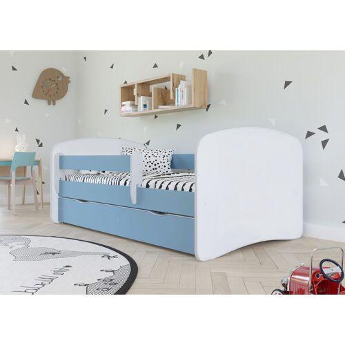Bjird Kinderbett, mit Rausfallschutz und Schublade, blau