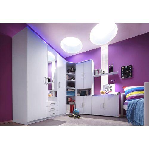 Jugendzimmer-Set, (Set, 5-St), weiß