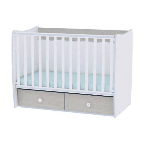 Lorelli Komplettbett »Babybett MATRIX NEW«, Babyschaukel, 2 Schubladen, Kinderbett, 120 x 60 cm, blau