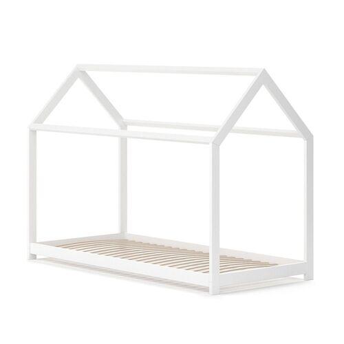 VitaliSpa® Kinderbett »Hausbett WIKI 90x200 Weiß Kinderhaus Kinder Bett Holz«