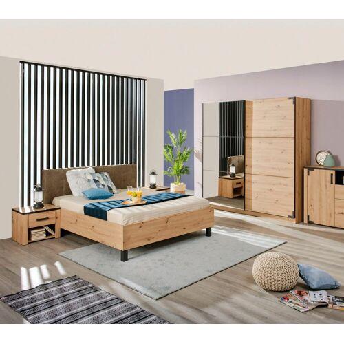 Schlafzimmer-Set »Lazio«, (Set, 4-St), Schwebetürenschrank mit Spiegel