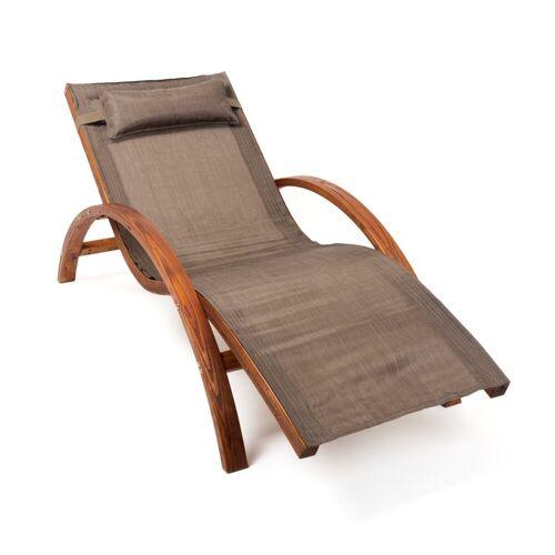 Ampel 24 Gartenliege »Tropica« (wetterfeste Relaxliege aus vorbehandeltem Holz)