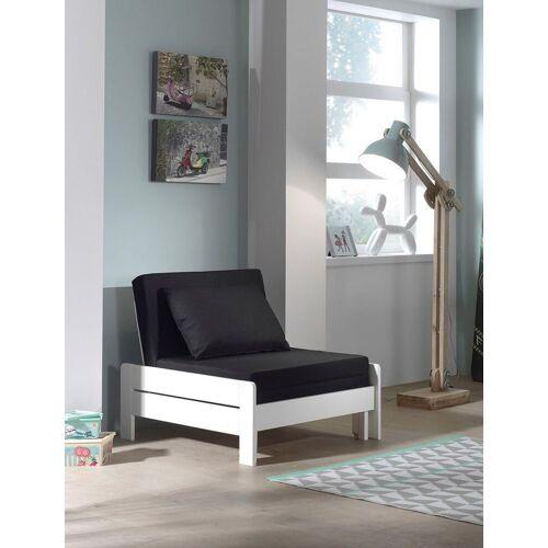Vipack Einzelbett »Pino«, ausklappbar zum Gästebett, Weiß