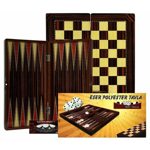 cofi1453 Spielbett »Orientalischer Backgammon Holz Tavla Dame Spielbrett Eser Kaplama Tavla Backgammon XXL Schach Dame Brettspiel mit Magnetverschluss« (30-St)