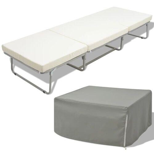 vidaXL Klappbett »Klappbett mit Matratze Weiß Stahl 70×200 cm«