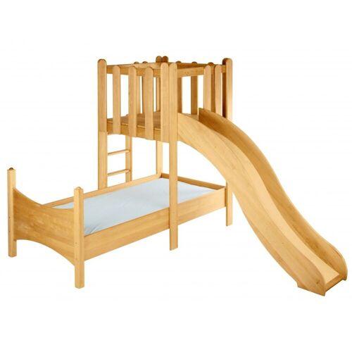 BioKinder - Das gesunde Kinderzimmer Kinderbett »Noah«, 90x200 cm mit Spielturm und Rutsche