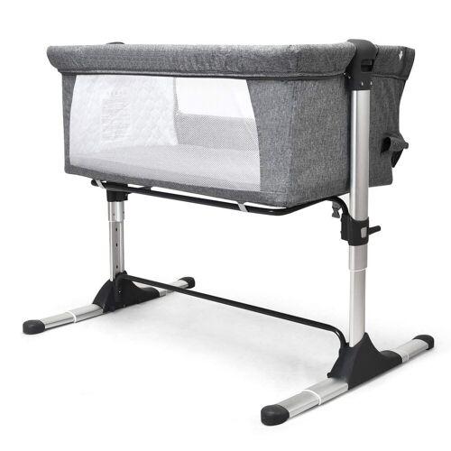 COSTWAY Babybett »2 in 1 höhenverstellbares Beistellbett & Kinderbett«, bis 20kg belastbar, grau