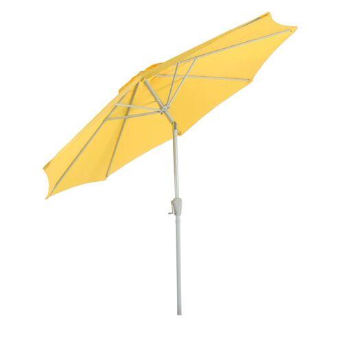 MCW Sonnenschirm »Asti-270-c«, LxB: 270x270 cm, Lüftungsschlitz, neigbar für optimale Ausrichtung gegen Sonne, Lichtschutzfaktor 50, gelb