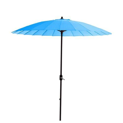 GMD Living Sonnenschirm »MANILLA«, dekorativer Stocksonnenschirm mit 16 Fiberglas Speichen, hellblau