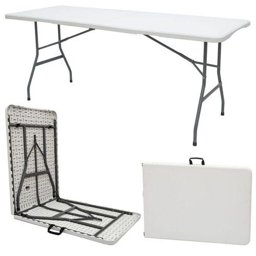 AMANKA Klapptisch »Gartentisch für 6 Personen Klapptisch Campingtisch«, 180 x 70 cm Klappbar Weiß