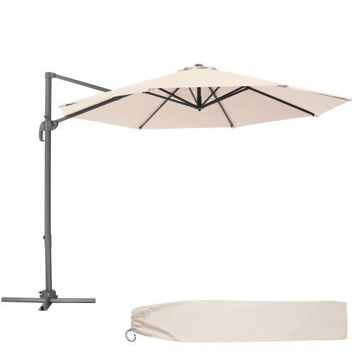 tectake Sonnenschirm »Sonnenschirm Ampelschirm Ø 300cm«, beige