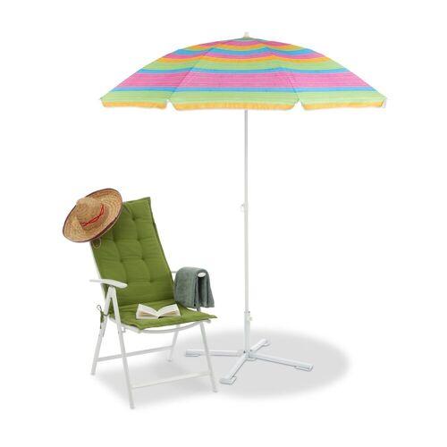 relaxdays Sonnenschirm »Gestreifter Strandschirm 210 cm hoch«