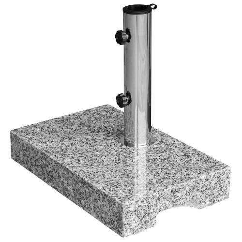 anndora Betonschirmständer »Sonnenschirmständer Granit 25kg Balkonständer max. 48mm Stamm - Farbwahl«, Grau