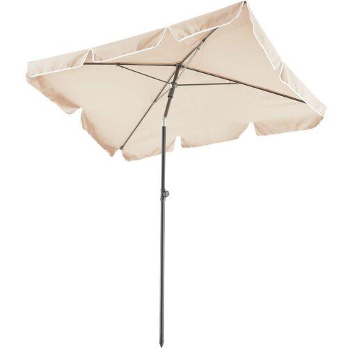 tectake Sonnenschirm »Sonnenschirm 200x125cm«, beige