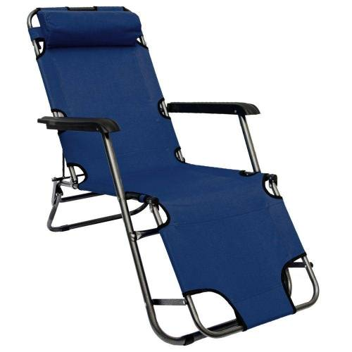 AMANKA Gartenstuhl »Campingstuhl Liegestuhl Freizeitliege Sonnenliege«, Klappliege Liege 153 cm blau