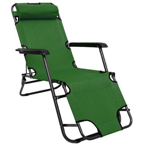 AMANKA Campingliege »Campingstuhl Liegestuhl Freizeitliege Sonnenliege« Campingliege Liege 153 cm grün
