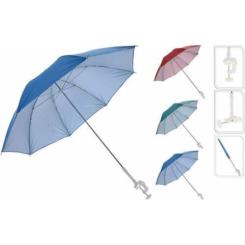 Meinposten Sonnenschirm »für Buggy Sonnenliege Balkonschirm Kinderwagen Ø 100 cm UV Schutz«, mit Halterung, rot