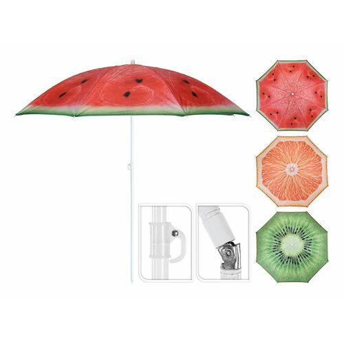 Meinposten Sonnenschirm »Ø 150 cm Strandschirm knickbar Schirm Balkonschirm Gartenschirm«, abknickbar, grün