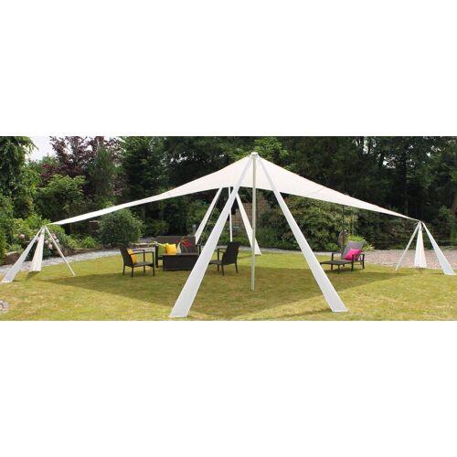 Leco Sonnensegel, XL Alu Pavillon Sonnensegel 10x7m Garten Terrasse Überdachung Sonnenschutz