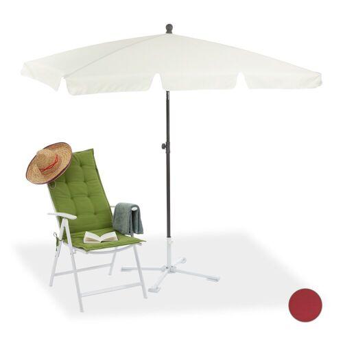 relaxdays Sonnenschirm »Rechteckiger Sonnenschirm für den Garten«, Weiß