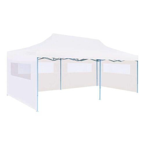 vidaXL Partyzelt »Pop-Up Partyzelt mit Seitenwänden Faltbar 3 x 6 m Stahl Weiß«