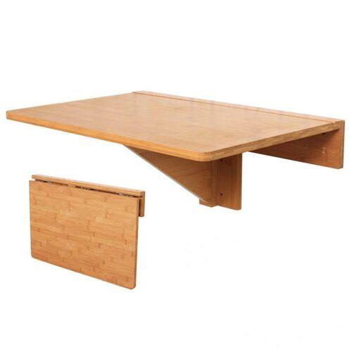 SoBuy Klapptisch »FWT031«, Wandklapptisch Tisch Küchentisch Kindermöbel aus Bambus 60x40cm