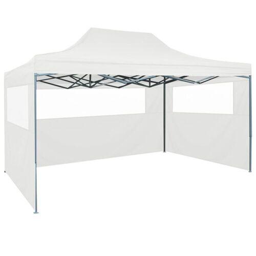 vidaXL Partyzelt »Faltbares Partyzelt mit 3 Seitenwänden 3 x 4,5 m Weiß«