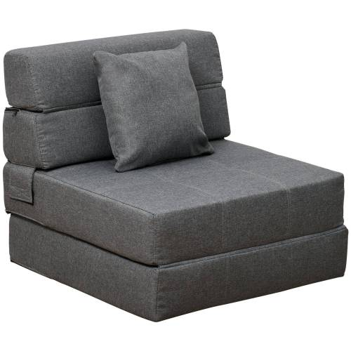 HOMCOM Sessel »Schlafsessel mit waschbarem Kissen«, grau