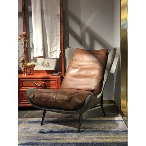 KAWOLA Relaxsessel »ERIO«, Vintage Leder braun