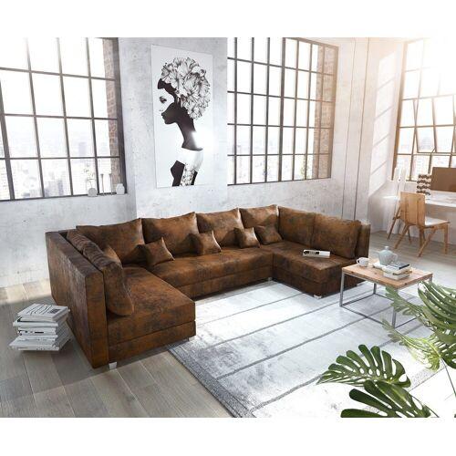 DELIFE Wohnlandschaft »Panama«, Braun Wohnlandschaft modular, Braun
