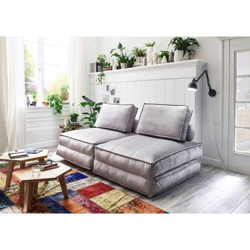ATLANTIC home collection XXL-Sessel, XXL-Sessel wandelbar zum Gästebett, hellgrau
