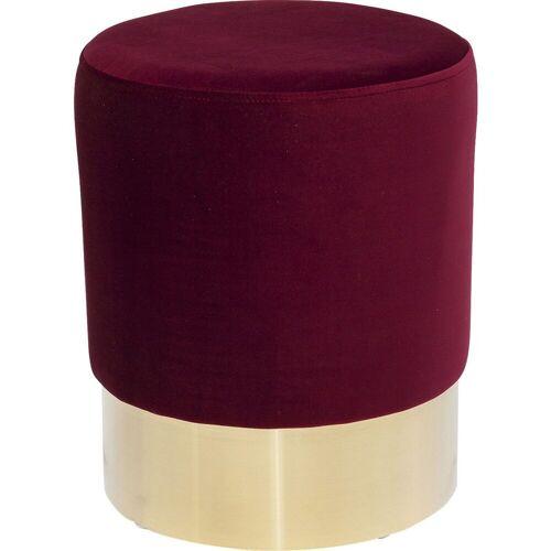 KARE Barhocker »Hocker Cherry Bordeaux Brass 35cm«