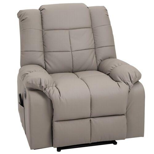 HOMCOM Massagesessel »Massagesessel mit Wärme- und Liegefunktion«, grau