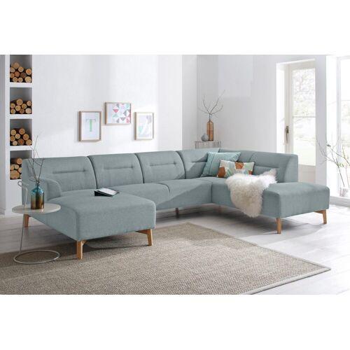 andas Wohnlandschaft »Kiruna«, bequemer Sitzkomfort, grau-mint