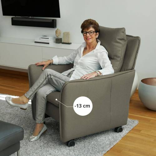 PLACE TO BE. Relaxsessel, Relaxsessel Insideout Wheels small - 13 cm schmaler, Khaki