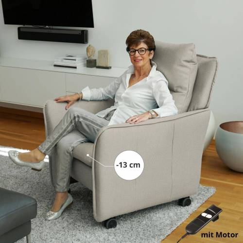 PLACE TO BE. Relaxsessel, Relaxsessel Insideout Wheels small - 13 cm schmaler, Creme