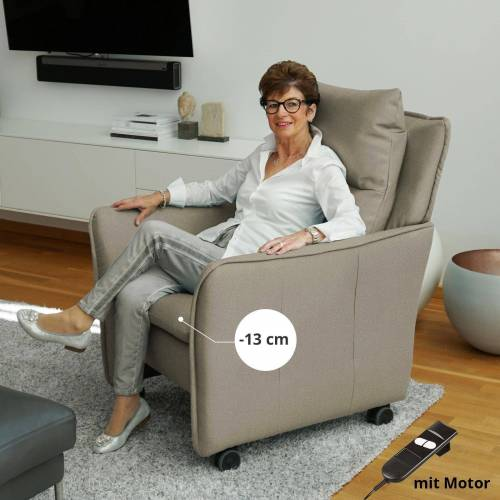 PLACE TO BE. Relaxsessel, Relaxsessel Insideout Wheels small - 13 cm schmaler, Sand