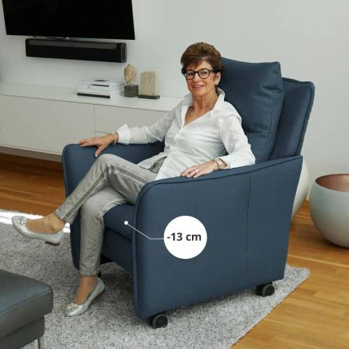 PLACE TO BE. Relaxsessel, Relaxsessel Insideout Wheels small - 13 cm schmaler, Blau