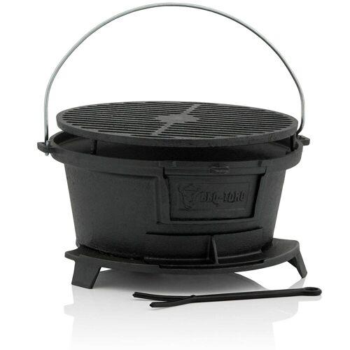 BBQ-Toro Campingtisch »Gusseisen Grilltopf mit Grillrost, 32 x 33 x 18 cm, Hibachi Style«