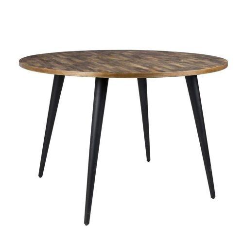 Trendmöbel24 Esstisch »Esstisch MO 110 cm mit runder Platte aus recycled Teak«