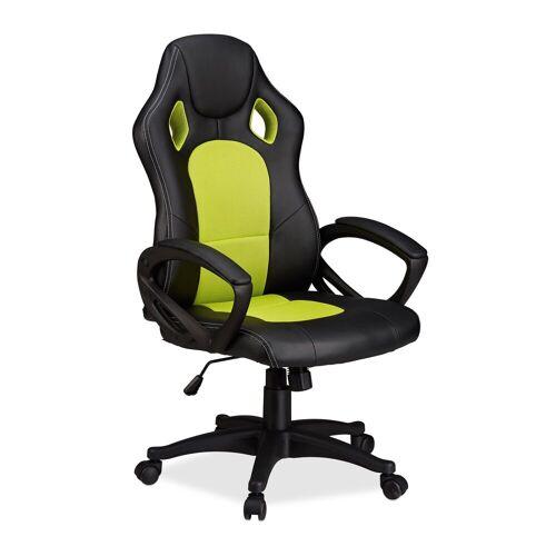 relaxdays Gaming-Stuhl »Gaming Stuhl XR9 im Racer Design«, Grün