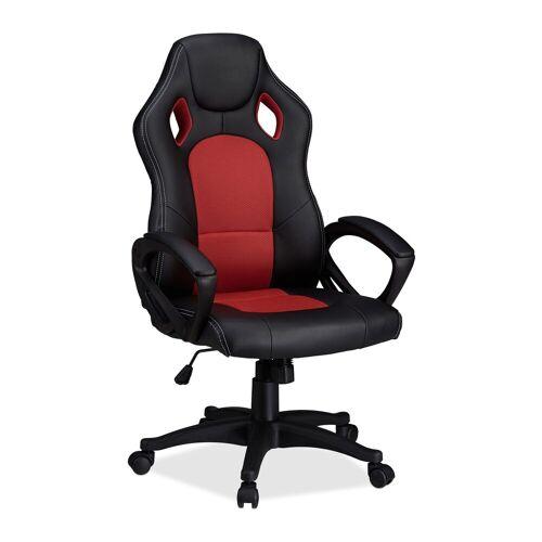 relaxdays Gaming-Stuhl »Gaming Stuhl XR9 im Racer Design«, Rot