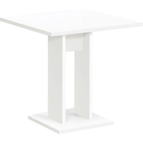 FMD Esstisch, Breite 70 cm, weiß