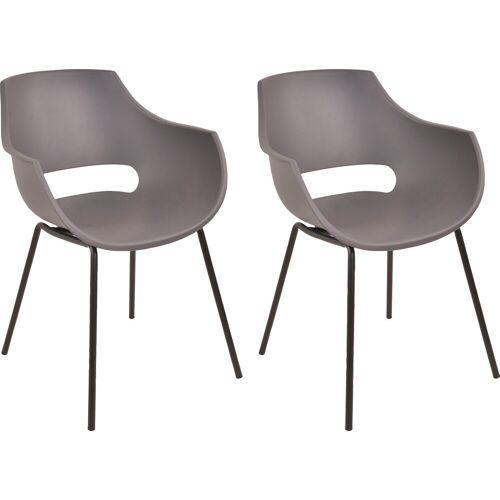 SIT Schalenstuhl (Set, 2 Stück), grau