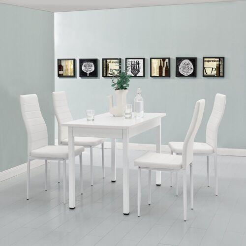 en.casa Esstisch, Moderner Küchentisch »Den Haag« 120x60cm in weiß, weiß