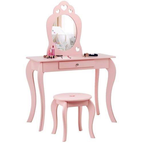 COSTWAY Schminktisch »Make-up Tisch«, Pink