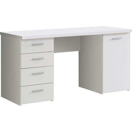 FORTE Schreibtisch »Netta«, Weiß matt Melamin   Weiß matt Melamin   Weiß matt Melamin