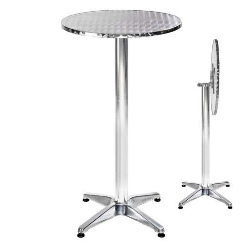 tectake Bistrotisch »Aluminium Bistrotisch Ø60cm« (1-St), grau